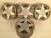 "TITAN AZEV 15"" 4x100 7j alloy wheels. Deep dish. not borbet bbs, ats, lenso, hartge, brabus TM"