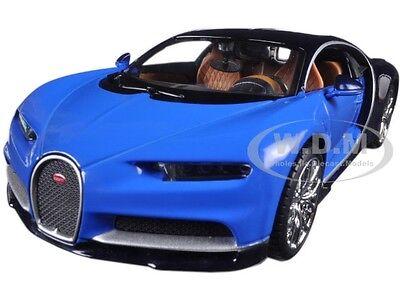 Bugatti Chiron Blue   Dark Blue 1 24 Diecast Model Car By Maisto 31514