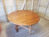 Ercol Oval Drop Leaf Dining Table ( Blonde Wood )