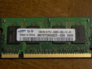 Mémoire portable 2x1GB (2GB) DDR2 PC2-5300S 555 mHz