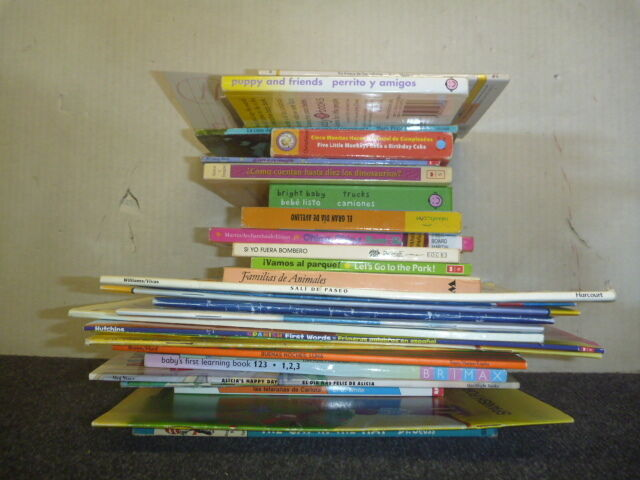 Lot of 10 Spanish Espanol Learn to Read Child Kids Picture ESL Book MIX UNSORTED