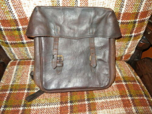 Vintage ww2 French leather motorcycle bag.