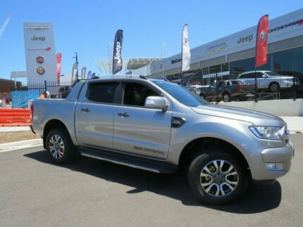 2016 Ford Ranger PX MkII Wildtrak Double Cab Graphite 6 Speed Sports Automatic Utility Wickham Newcastle Area Preview