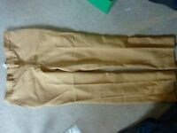 Vintage ladies camel coloured trousers - size 12