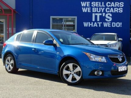 2014 Holden Cruze JH Series II MY14 Equipe Blue 6 Speed Sports Automatic Hatchback Welshpool Canning Area Preview