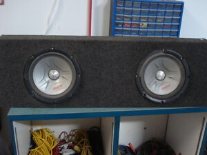 """Set of Pioneer 12"""" TS-W304C subs in a box"""