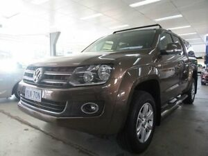 2014 Volkswagen Amarok 2H MY14 TDI420 Highline (4x4) Toffee Brown 8 Speed Automatic Dual Cab Utility Fyshwick South Canberra Preview