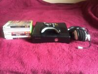 Xbox 360 S console (250 GB) with boxed games and Turtlebeach headset