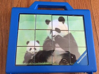 Ravensburger Block - Ravensburger Cube Puzzle in Tote 12 pieces in tote animals ages 4+