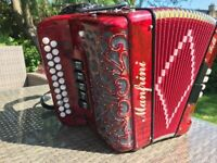 S/Hand Manfrini 2 Row Accordion in mint condition