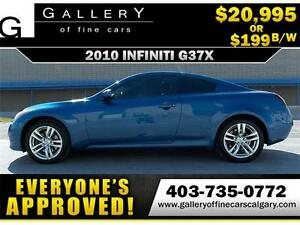 2010 Infiniti G37x AWD $199 bi-weekly APPLY TODAY DRIVE TODAY