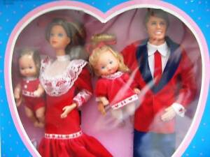 1985 86 HEART FAMILY KISS & CUDDLE OR SURPRISE PARTY 4 DOLLS NIB