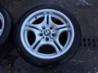 SET OF 4 BMW STAGGERED WHEELS & TYRES 17""