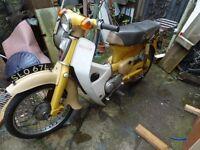 classic Honda C70 Stepthru motorcycle 1973 with 8 month MOT