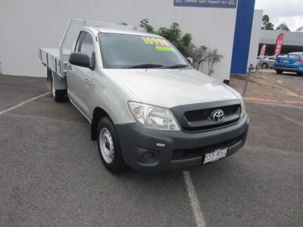 2009 Toyota Hilux TGN16R MY10 Workmate Silver 5 Speed Manual Cab Chassis