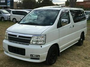 2001 Nissan Elgrand E50 LIFE CARE White 4 Speed Automatic Wagon Taren Point Sutherland Area Preview