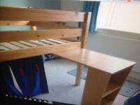 Urgent,Solid Pine Midsleeper Single Bed by Julian Bowen