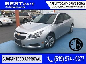 CHEVY CRUZE LS - APPROVED IN 30 MINUTES! - ANY CREDIT LOANS