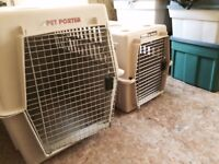 Small and Large dog crates