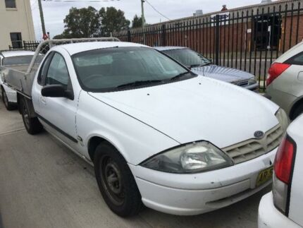 2002 Ford Falcon AU III XL White 4 SP AUTOMATIC Cab Chassis