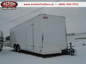 Atlas 8X20 Auto Hauler with Flat Top and V-nose, Great upgrades!