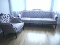 French Provincial Chair and Couch