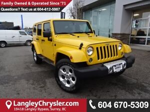 2015 Jeep Wrangler Unlimited Sahara *ACCIDENT FREE*ONE OWNER*...