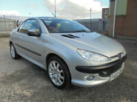 02 02 Peugeot 206 2.0 Coupe Cabriolet SE Silver 5 SPEED
