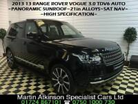 2013 13 Land Rover Range Rover Vogue 3.0 TDV6 Automatic~PAN ROOF~