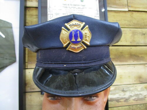 Early Vintage Pulaski Fire Department Visor Cap
