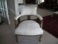 Victorian Walnut Nursing Chair,Newly reupholstered professionally