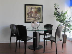 """Glass Dining Table - 48"""" Round"""