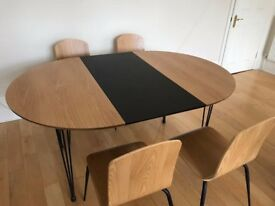 DESIGN Ryland Dining Table and 4 chairs Set