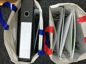 Lever arch folders and ring binders available