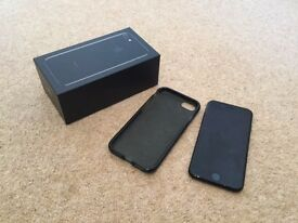 Iphone 7 - 128Gb, Jet Black. New and unused, original box and rubber case