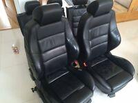 Golf mk4 black recaro seats heated 5 door - 07798711023