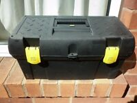 Stanley tool box with a selection of tools