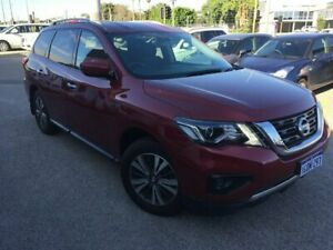 2017 Nissan Pathfinder R52 MY17 Series 2 ST (4x2) Red Continuous Variable Wagon
