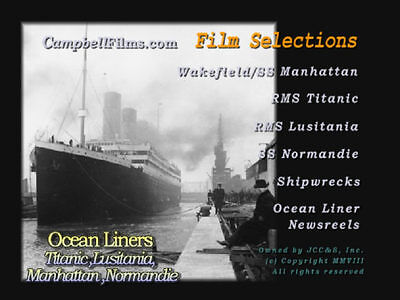 7 Ocean Liner Films Titanic Lusitania Queen Mary Troopship Wakefield DVD WW2