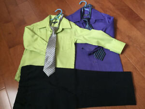 THREE DRESS CLOTHES BOYS, SIZE 4, MINT