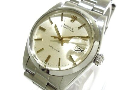 Auth ROLEX Oyster Date 6694 Silver 3473338 Men
