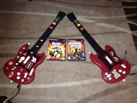 2 Guitar Hero Guitar for ps2 whit 1 game each 20$ each