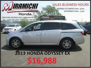 2013 Honda Odyssey EX with Honda Plus Extended Warranty $16,988