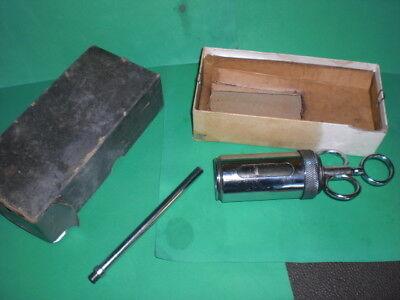 Vintage Metal/Glass Veterinary Dose Syringe 1 and 2oz with original box
