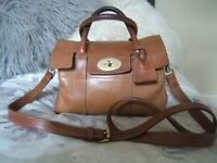 vintage mulberry oak small bayswater satchel