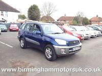 2001 (51 Reg) Toyota RAV4 GX 2.0 4X4 5DR Stationwagon BLUE + LONG MOT