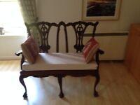 Antique Wooden Love seat