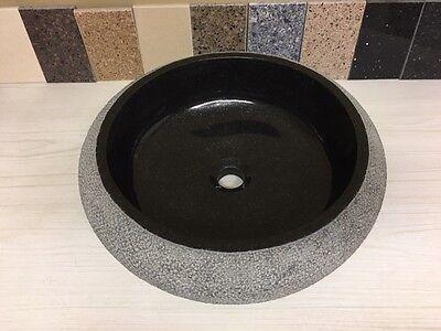 ADAGIO ABSOLUTE BLACK NATURAL STONE BATHROOM VESSEL SINK