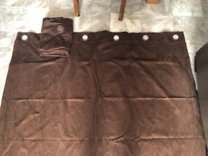 Dark Brown Suede Window Panels