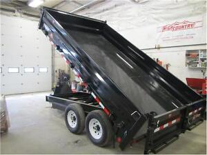 PJ Trailers *** 8x14 *** Deckover dump with fold down sides !
